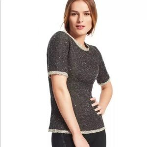 CAbi Coco Shell Top Style #542 Short Sleeve Tweed
